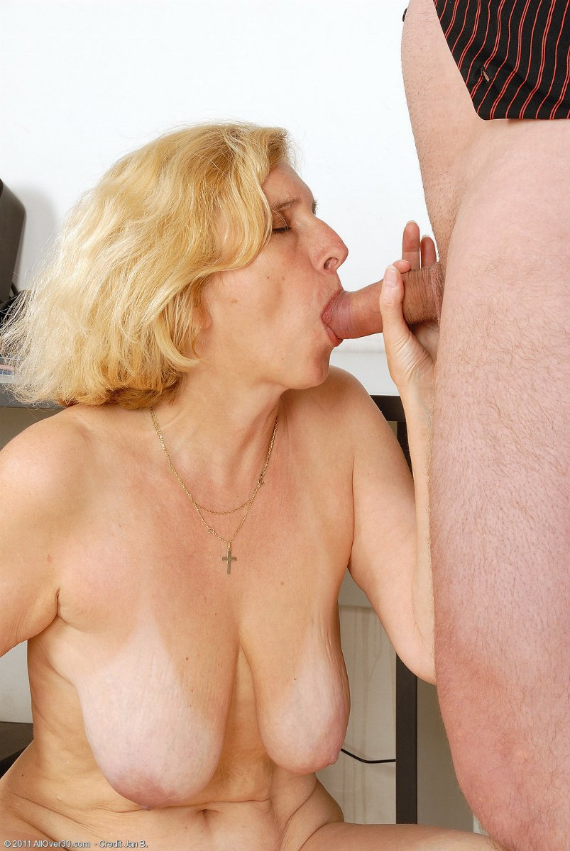 from Van really granny cum all over