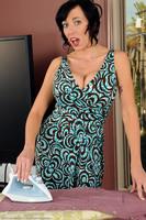 Alia Janine Ironing Naked