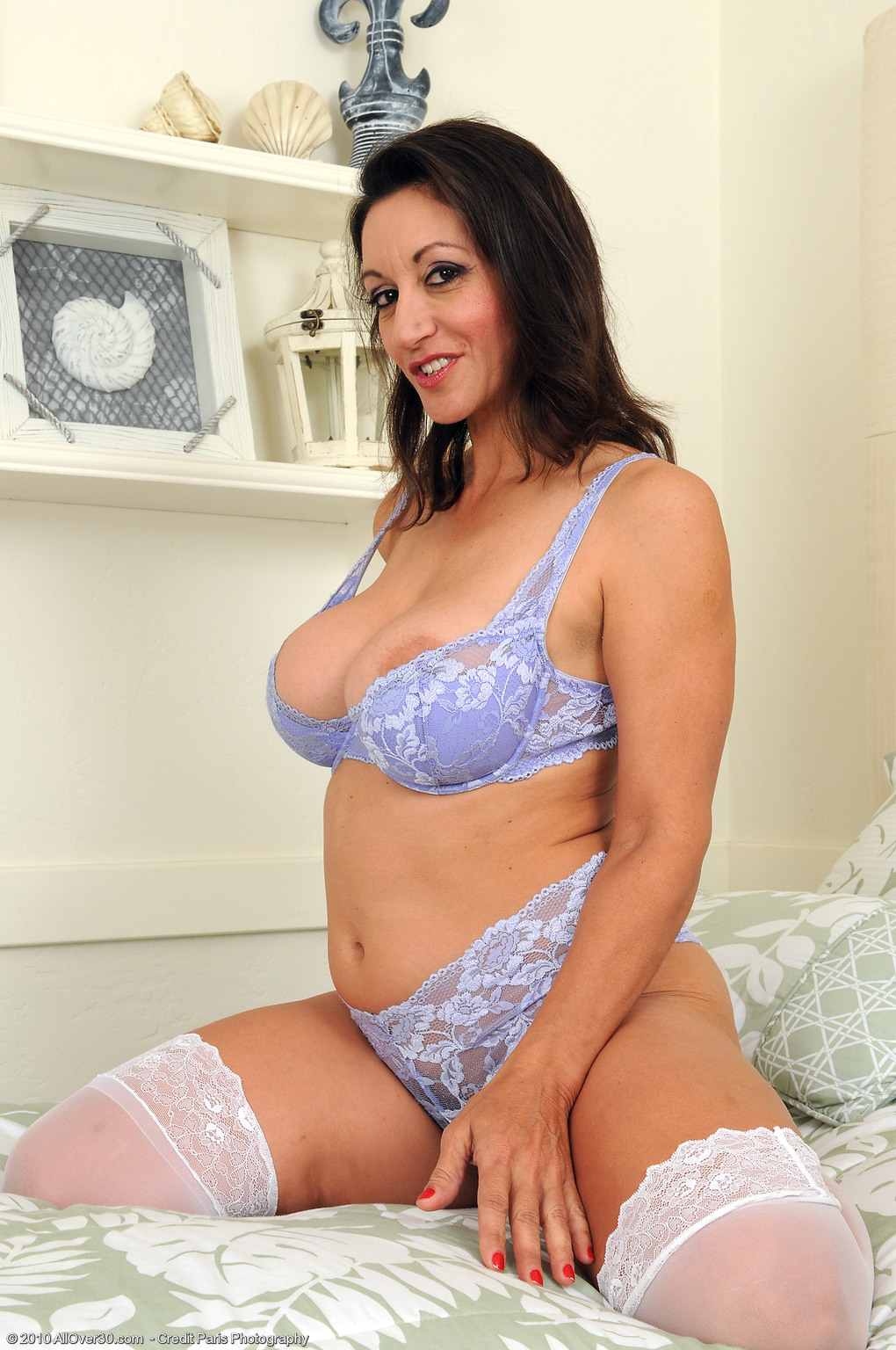 Persia Monir Blue Lingerie at AllOver30 Free