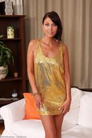Claudia Gold Dress