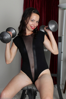 Severine Naked Workout