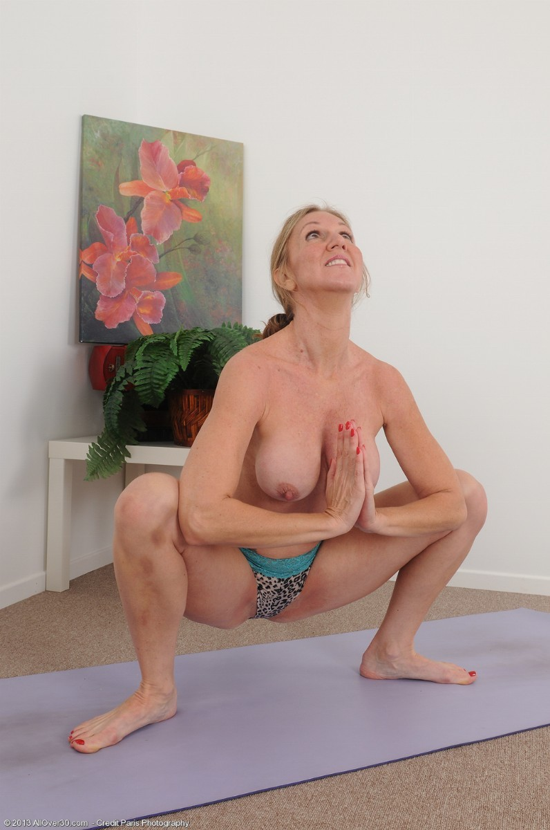 For Hot blonde naked yoga