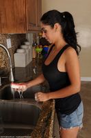 Bianca Masturbates In Sink