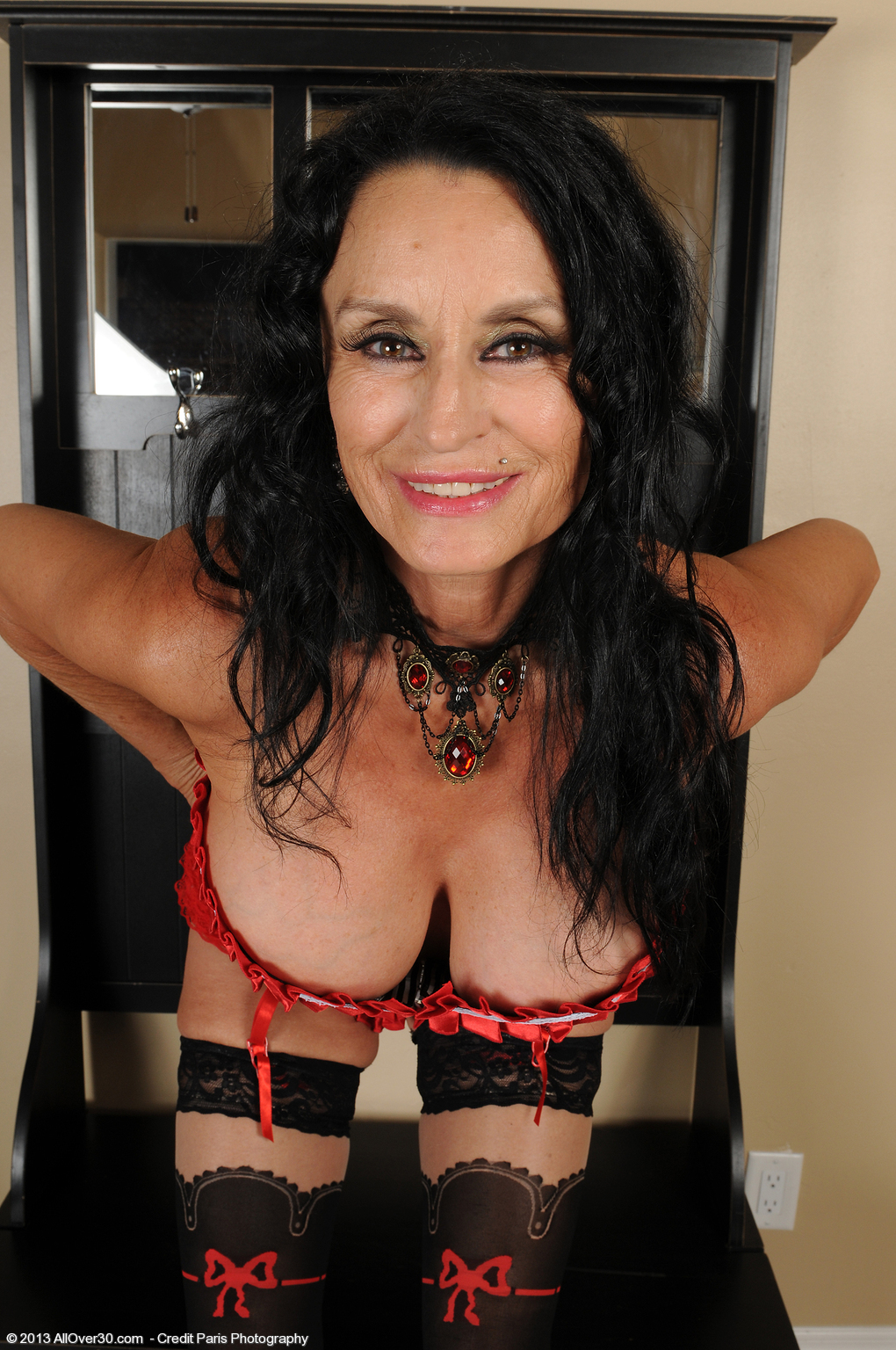Fucking all over 30 red lingerie granny couine vite