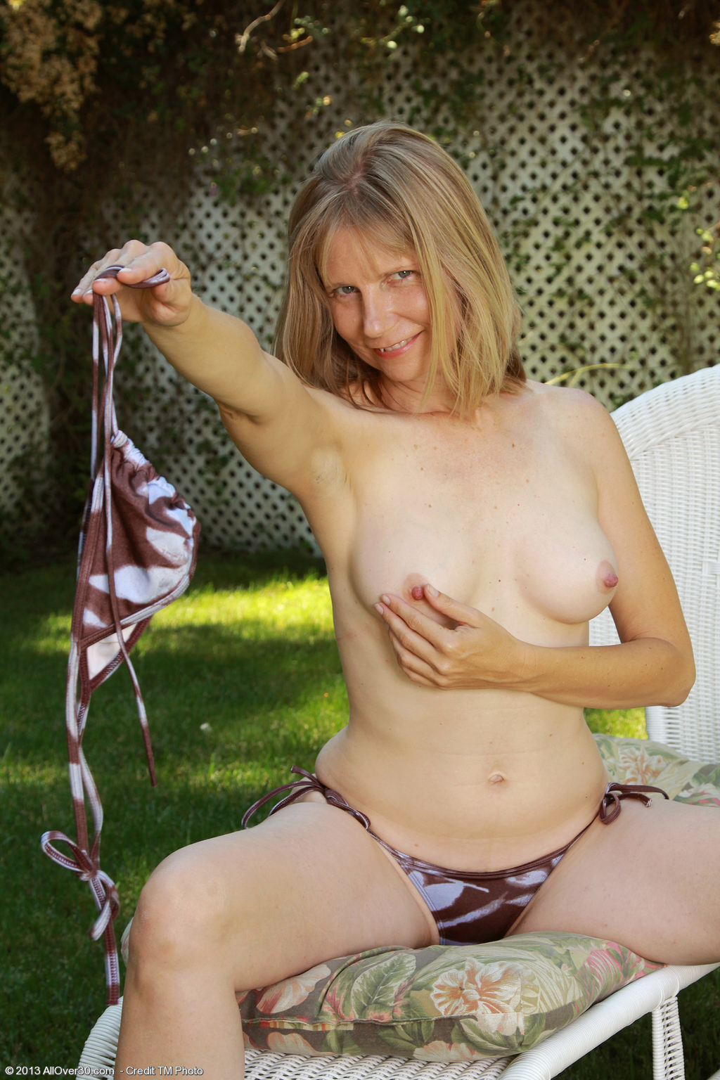 Naked wife outside