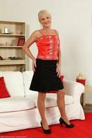 Inez In Black Skirt