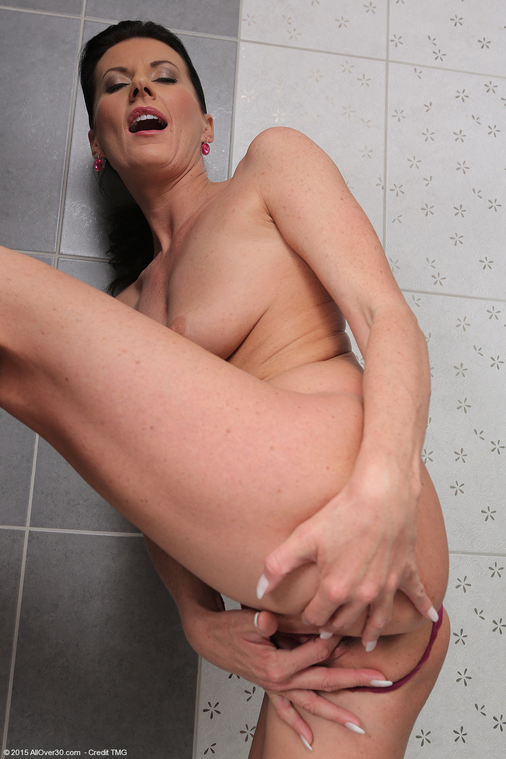 Naked in shower