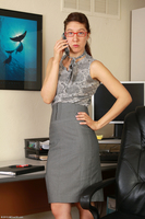 Naked Office MILF Valentine