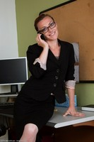 Horny Office MILF Amber K