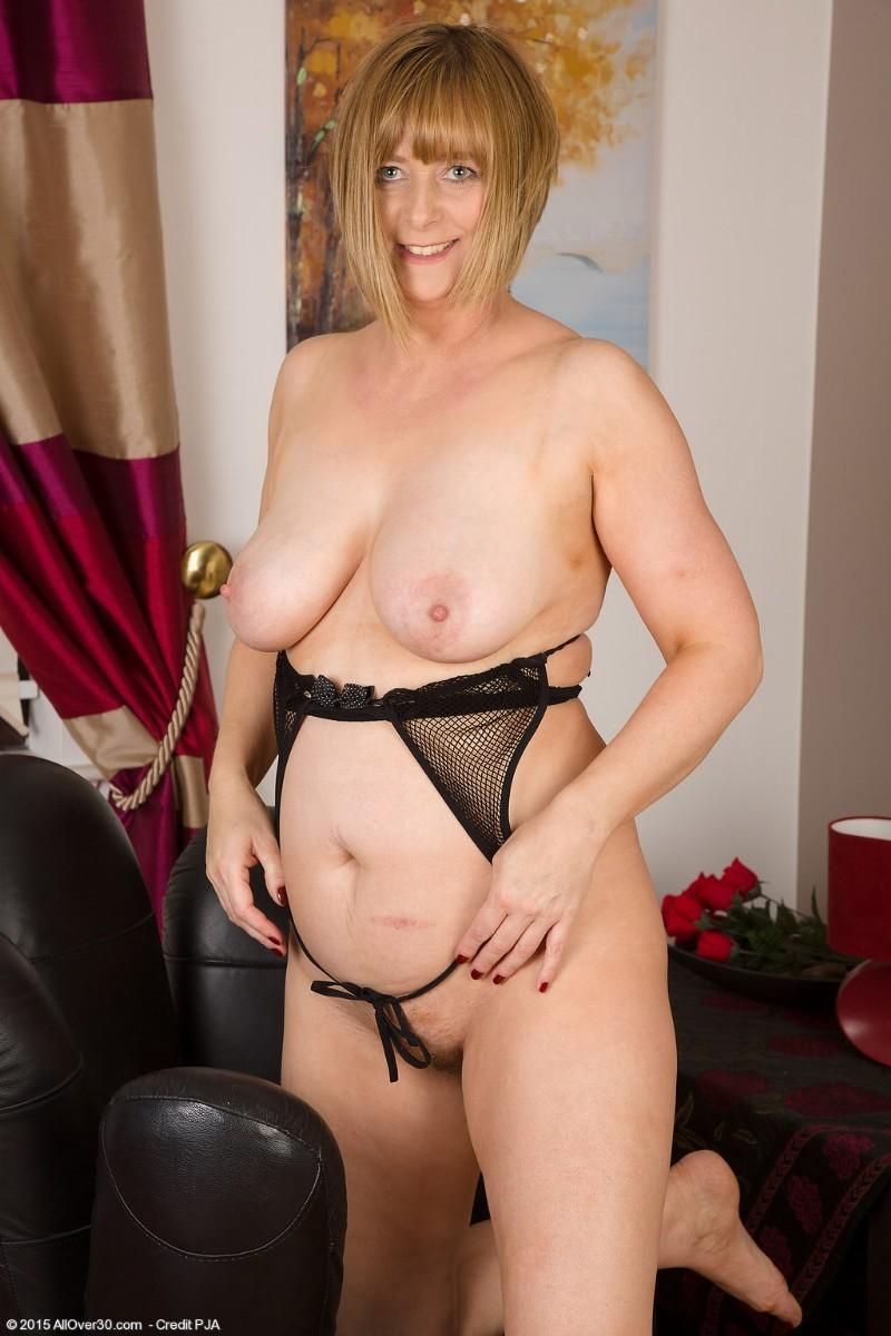 Mature sheer panties