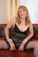 Catrina Costa Naked In Black Stockings