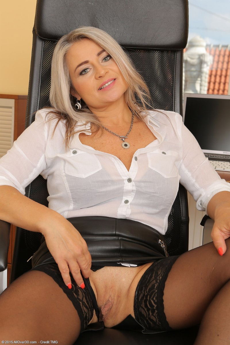 office cougar zaira connor naked at desk at allover30 free