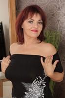 Redhead Granny Natalia Muray Strips Naked