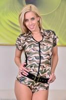 Army MILF Nesty Spreads Pussy